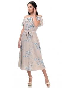 Платье «Рози», р-ры S-L, арт.414 колокольчик беж