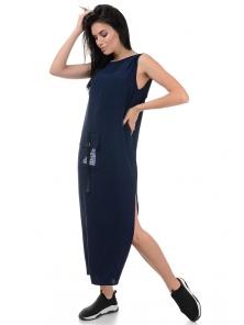 Платье «Денна», р-ры S-ХL, арт.415 синий