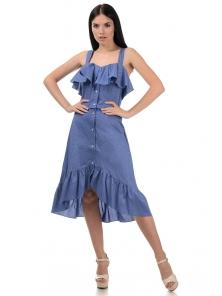 Топ и юбка «Эстель», р-ры S-L, арт.416 джинс