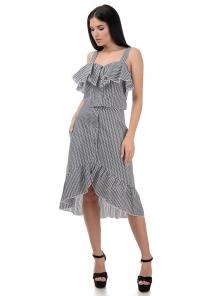 Топ и юбка «Эстель», р-ры S-L, арт.416 зигзаг черный