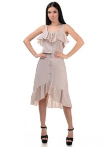 Топ и юбка «Эстель», р-ры S-L, арт.416 пудра-черный
