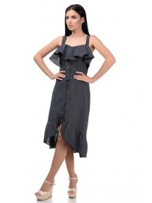 Топ и юбка «Эстель», р-ры S-L, арт.416 черный