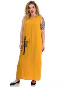 Платье «Денна plus», р-ры ХХL-ХХХХL, арт.419 горчица