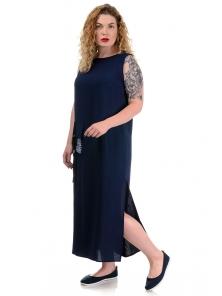 Платье «Денна plus», р-ры ХХL-ХХХХL, арт.419 синий