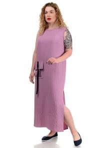 Платье «Денна plus», р-ры ХХL-ХХХХL, арт.419 сирень