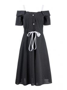 Платье «Марита», р-ры S-ХL, арт.420 черный