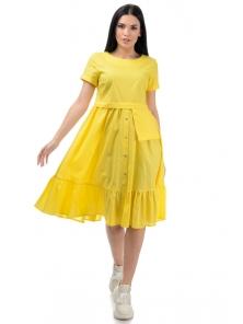 Платье «Соло», р-ры S-ХL, арт.437 желтый
