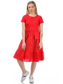 Платье «Соло», р-ры S-ХL, арт.437 красный