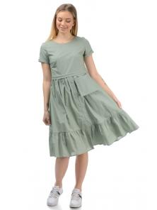 Платье «Соло», р-ры S-ХL, арт.437 оливка