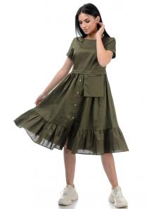 Платье «Соло», р-ры S-ХL, арт.437 хаки
