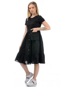 Платье «Соло», р-ры S-ХL, арт.437 черный