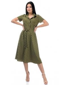 Платье «Риз», р-ры S-ХL, арт.438 хаки