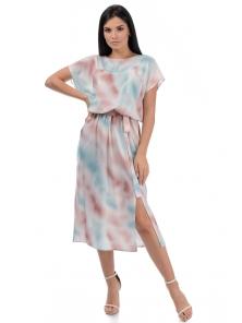 Платье «Эллис», р-ры S-ХL, арт.448 голубой-розовый
