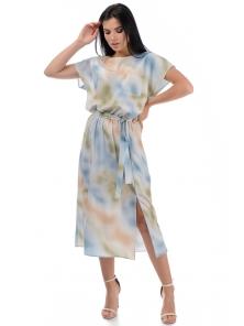 Платье «Эллис», р-ры S-ХL, арт.448 зеленый-желтый