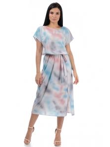 Платье «Эллис», р-ры S-ХL, арт.448 серый-розовый