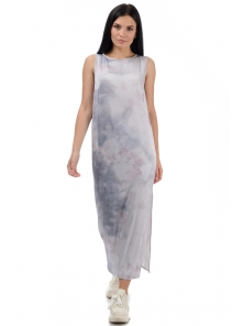 Платье «Дикси», р-ры S-ХL, арт.450 серый-розовый