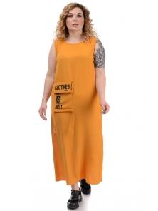 Платье «Дикси plus», р-ры ХХL-ХХХХL, арт.452 горчица
