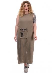 Платье «Дикси plus», р-ры ХХL-ХХХХL, арт.452 мокко