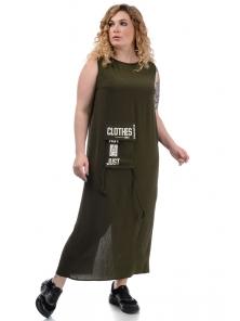 Платье «Дикси plus», р-ры ХХL-ХХХХL, арт.452 хаки