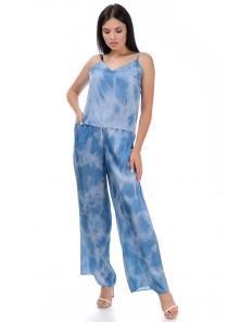 Костюм топ+брюки «Блонди», р-ры S-L, арт.459 голубой