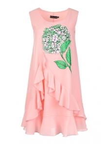 "Платье ""Цветана"", р-ры S-L, арт. 327 розовый"