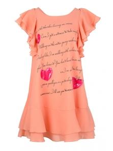 """Платье """"Крис """", р-ры S-L, арт.319 персик"""