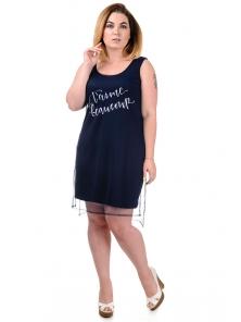 """Платье """"Бонита"""", р-ры XL-XXXL, арт. 341 синий"""