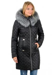 """Зимнее пальто""""Виктория"""",арт.№190, 42-52 черный"""