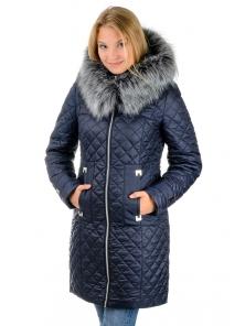 """Зимнее пальто""""Виктория"""",арт.№190, 42-52 т.синий"""