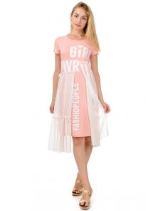 "Платье ""Памела"", р-ры S-XL, арт. 343 розовый"