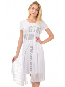 """Платье """"Памела"""", р-ры S-XL, арт. 343 белый"""