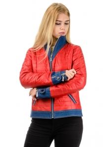 """Демисезонная куртка """"Джина"""", арт.№177, р-ры 42-48 красный"""