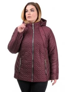 """Женская демисезонная куртка """"Кэйси"""", р-ры 50-58, №210 бордо"""