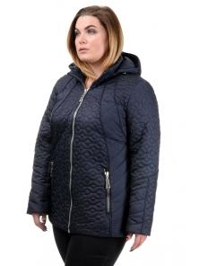 """Женская демисезонная куртка """"Кэйси"""", р-ры 50-58, №210 т.синий"""