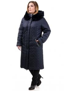 Зимнее пальто «Орнелла», р-ры 52-60, №211 т.синий