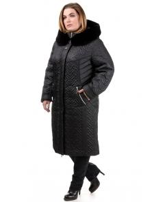 Зимнее пальто «Орнелла», р-ры 52-60, №211 черный