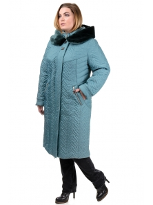 Зимнее пальто «Орнелла», р-ры 52-60, №211 м.волна