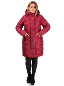 Зимнее пальто «Кармелия», р-ры 50-60, арт. №212 бордо
