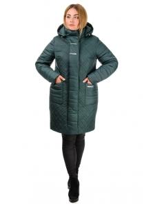 Зимнее пальто «Кармелия», р-ры 50-60, арт. №212 зеленый