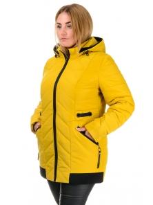 Демисезонная куртка «Норма», 52-58, арт.242_горчица