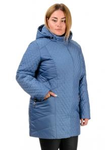 Куртка зимняя «Урсула», р-ры 50-58, №216 джинс