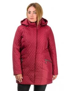 Куртка зимняя «Урсула», р-ры 50-58, №216 бордо