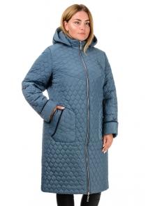 Пальто зимнее «Юта», р-ры 50-60, №217 серо-голубой