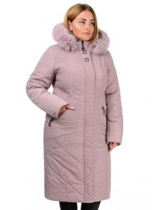 Зимнее пальто «Люсия», р-ры 50-58, №215 пудра
