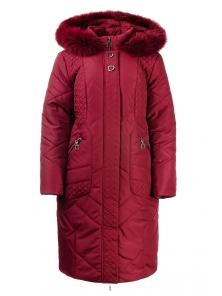 Зимнее пальто «Люсия», р-ры 50-58, №215 бордо