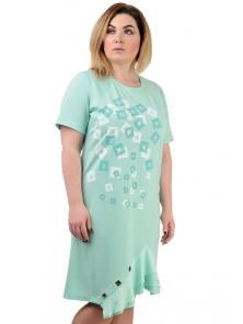 """Платье """"Офелия"""", р-ры М-XL, арт.306 мята"""