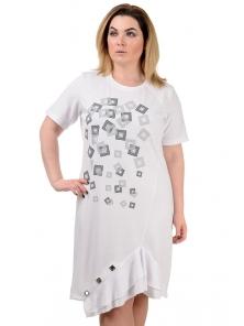 """Платье """"Офелия"""", р-ры М-XL, арт.306 белый"""