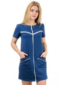 """Платье """"Кира"""", р-ры ХS-L, арт.308 синий"""