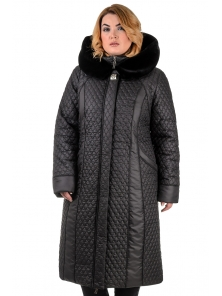 """Женское зимнее пальто """"Лиза"""", арт.№186, 52-60 черный"""