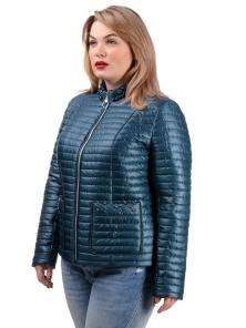 Демисезонная куртка «Вива», р.50-56, арт.251_мор.волна